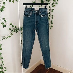 Free People Stella High Waisted Skinny Jeans